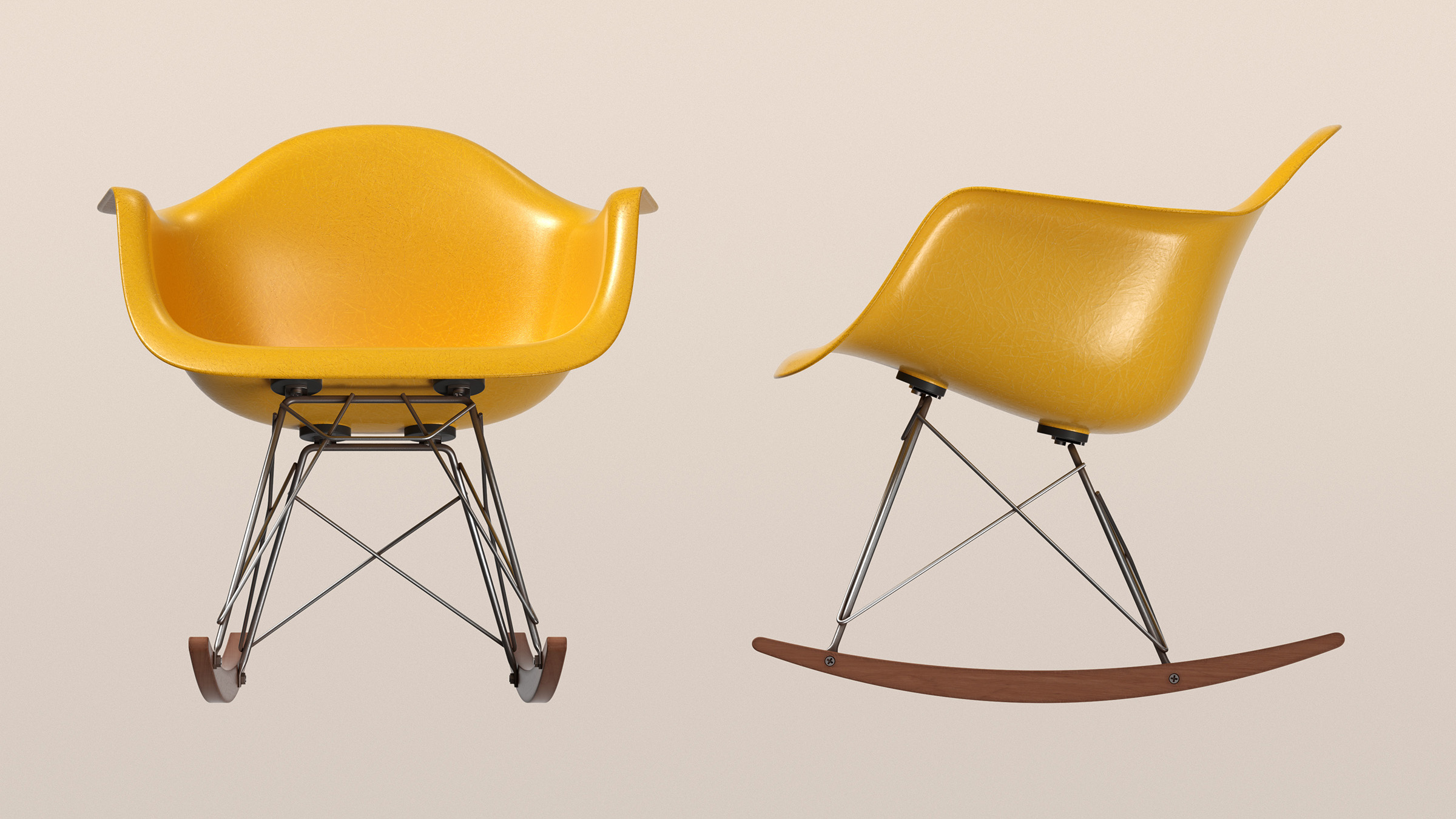 Eames Fibreglass Rocking Armchair CAD sculpting exercise