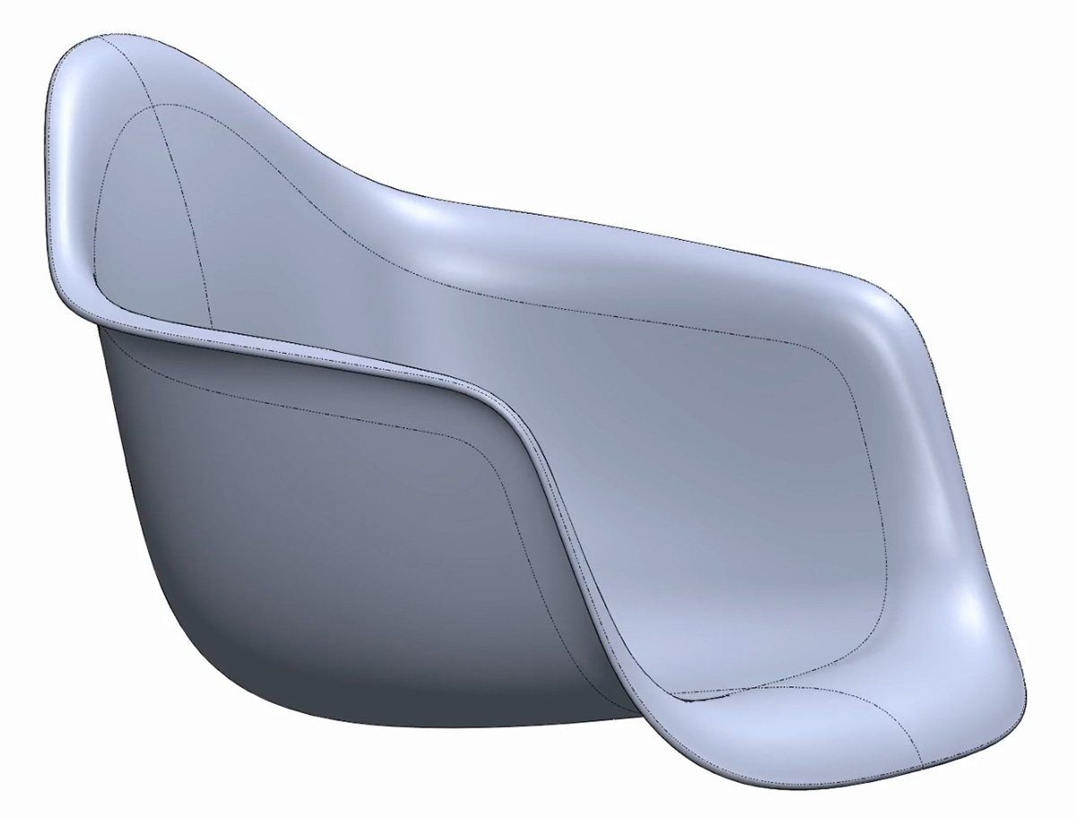 Solidworks Tutorial: Modelling the Eames Fibreglass Rocking Armchair Shell